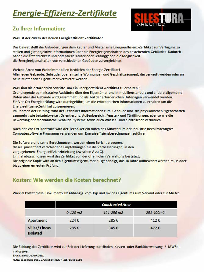 Energy Certificates